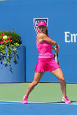 Professional tennis player Simona Halep during first round match at US Open 2014 — 图库照片