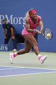 Grand Slam champion Serena Williams during fourth round match at US Open 2014 — 图库照片