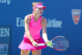 Professional tennis player Simona Halep during first round match at US Open 2014 — Stok fotoğraf