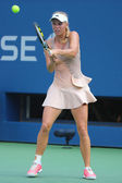 Professional tennis player Caroline Wozniacki during US Open 2014 third round match — Stockfoto