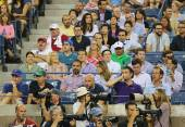 Professional photographers at US Open 2014 at Billie Jean King National Tennis Center — Stok fotoğraf