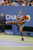 Grand Slam champion Serena Williams during first round match at US Open 2014 — 图库照片