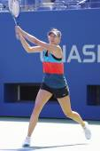Four times Grand Slam champion Maria Sharapova practices for US Open 2014 — 图库照片