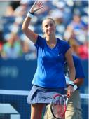 Two times Grand Slam champion Petra Kvitova celebrates victory after US Open 2014 — Stock Photo
