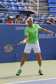 Professional tennis player David Ferrer practices for US Open 2014 — ストック写真