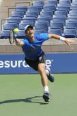 Grand Slam Champion Andy Murray practices for US Open 2014 — ストック写真