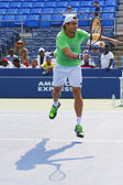Professional tennis player David Ferrer practices for US Open 2014 — Stock Photo