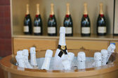 Moet and Chandon champagne presented at the National Tennis Center during US Open 2014 — 图库照片