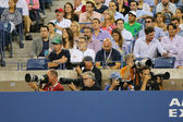Professional photographers at US Open 2014 at Billie Jean King National Tennis Center — Foto de Stock
