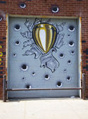 Mural art in Williamsburg section in Brooklyn — Stock Photo