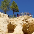 Visitors at the Sunrise Point at Bryce Canyon National Park in Utah — Stock Photo #57350935