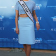 Miss USA 2014 Nia Sanchez from Nevada at the red carpet before US Open 2014 opening night ceremony — Stock Photo #57570333