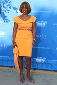 Co-anchor of CBS This Morning Gayle King at the red carpet before US Open 2014 opening night ceremony — Stock Photo