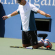 Grand Slam champion Mike Bryan during US Open 2014 semifinal doubles match at Billie Jean King National Tennis Center — Stock Photo #57786385