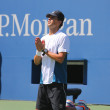 Grand Slam champion Mike Bryan during US Open 2014 semifinal doubles match at Billie Jean King National Tennis Center — Stock Photo #57786395