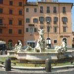 Fountain of Neptune created by Giacomo della Porta in 1574 at the Piazza Navona in Rome — Stock Photo #57786429