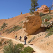 Hikers at Queens Garden trial at Bryce Canyon National Park in Utah — Stock Photo #57884065
