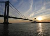 Verrazano Bridge in New York — Stock Photo