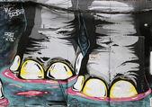 искусство фрески в даунтаун-бруклине — Стоковое фото