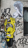 Mural art at Bowery in Manhattan — Stock Photo