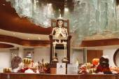 Chocolate Skeleton at display for Halloween at Aria Resort and Casino Las Vegas — Stok fotoğraf