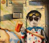 Muurschilderingen op east williamsburg in brooklyn — Stockfoto