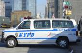 NYPD traffic control vehicle in Manhattan — Stock Photo