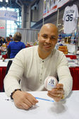 New York Yankees player Carlos Beltran during autographs session in New York — Stock Photo