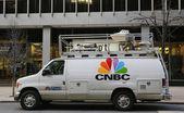 CNBC truck in Midtown Manhattan — Stock Photo