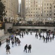 Lower Plaza of Rockefeller Center with ice-skating rink and Christmas tree in Midtown Manhattan — Stock Photo #60883103