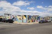 Mural wall in Williamsburg section in Brooklyn — 图库照片
