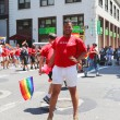 Delta Airlines LGBT Pride Parade participants in New York City — Stock Photo #61098161