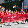 Delta Airlines LGBT Pride Parade participants in New York City — Stock Photo #61098163