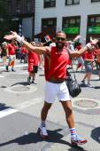 Delta Airlines LGBT Pride Parade participants in New York City — Stock Photo