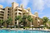 The Ritz-Carlton Grand Cayman luxury resort located on the Seven Miles Beach — Stock Photo