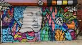 Mural art in Astoria section in Queens — Stockfoto