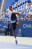 US Open 2014 champion Marin Cilic from Croatia during US Open 2014 round 4 match — Stock Photo