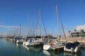 Sailing yachts in Herzliya Marina — Stockfoto