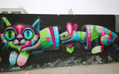 Arte mural em east williamsburg no brooklyn — Fotografia Stock