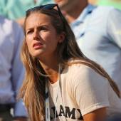 Andy Murray's girlfriend Kim Sears at US Open 2014 at Billie Jean King National Tennis Center — Stock Photo