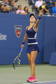 Professional tennis player Eugenie Bouchard during third round march at US Open 2014 — Stock Photo