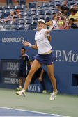 US Open 2014 women doubles champion Ekaterina Makarova during final match at Billie Jean King National Tennis Center — Stock Photo