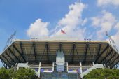 Arthur Ashe Stadium during US Open 2014 at Billie Jean King National Tennis Center — Stock Photo