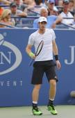 Grand Slam Champion Andy Murray during US Open 2014 round 3 match — Stock Photo