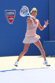 Professional tennis player Kimiko Date-Krumm  during first round match at US Open 2014 — Stock Photo