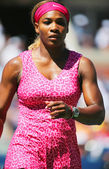 Grand Slam champion Serena Williams during round 2 match at US Open 2014 — Stock Photo