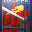 US Open 2009 poster on display at the Billie Jean King National Tennis Center in New York — Stock Photo #63183879