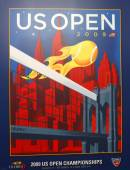 US Open 2009 poster on display at the Billie Jean King National Tennis Center in New York — Stok fotoğraf