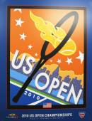 US Open 2010 poster on display at the Billie Jean King National Tennis Center in New York — Stock Photo