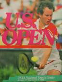 US Open 1985 poster on display at the Billie Jean King National Tennis Center in New York — Stock Photo